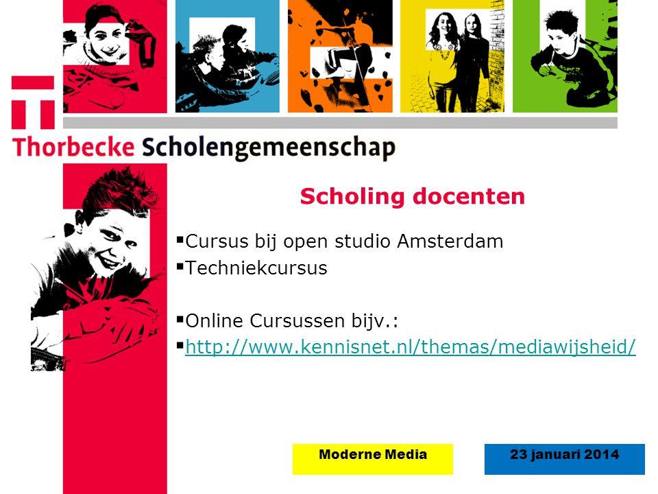 Scholing docenten Cursus bij open studio Amsterdam Techniekcursus