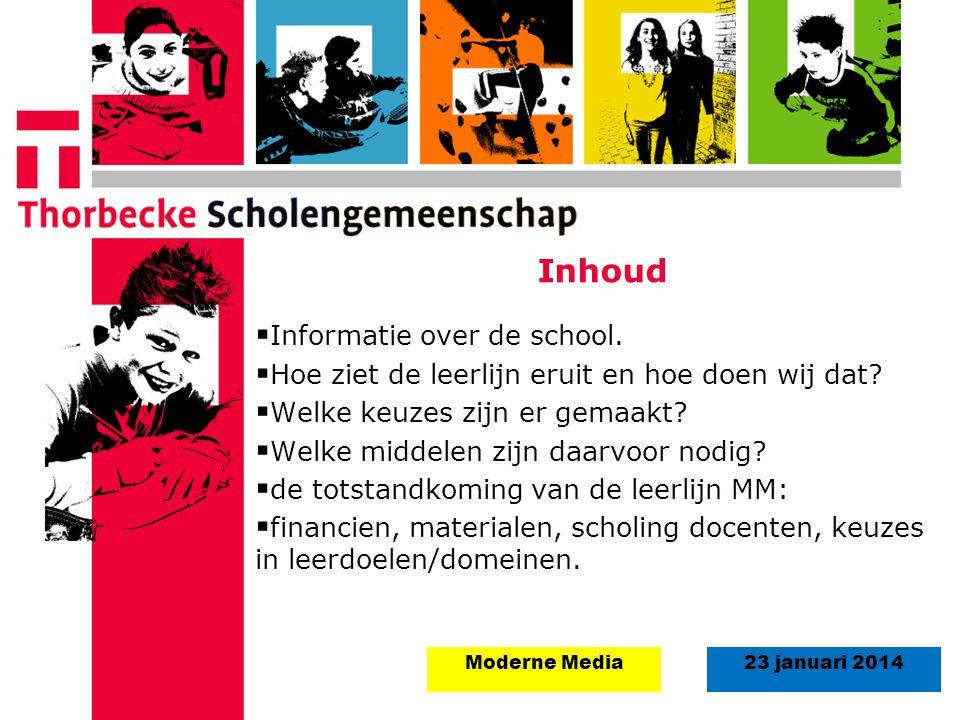 Inhoud Informatie over de school.
