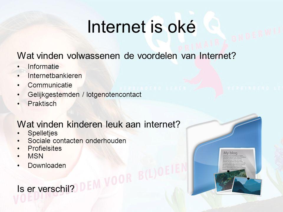Internet is oké Wat vinden volwassenen de voordelen van Internet