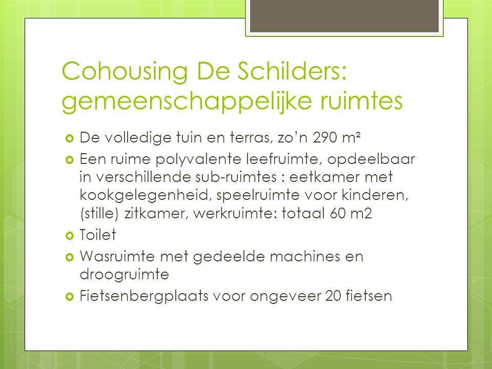 Cohousing De Schilders: gemeenschappelijke ruimtes