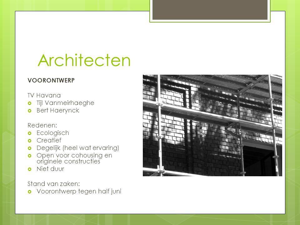 Architecten VOORONTWERP TV Havana Tijl Vanmeirhaeghe Bert Haerynck