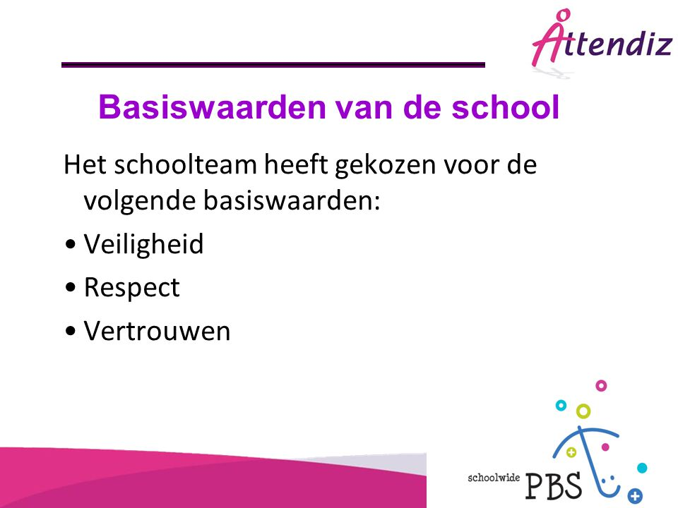 Basiswaarden van de school