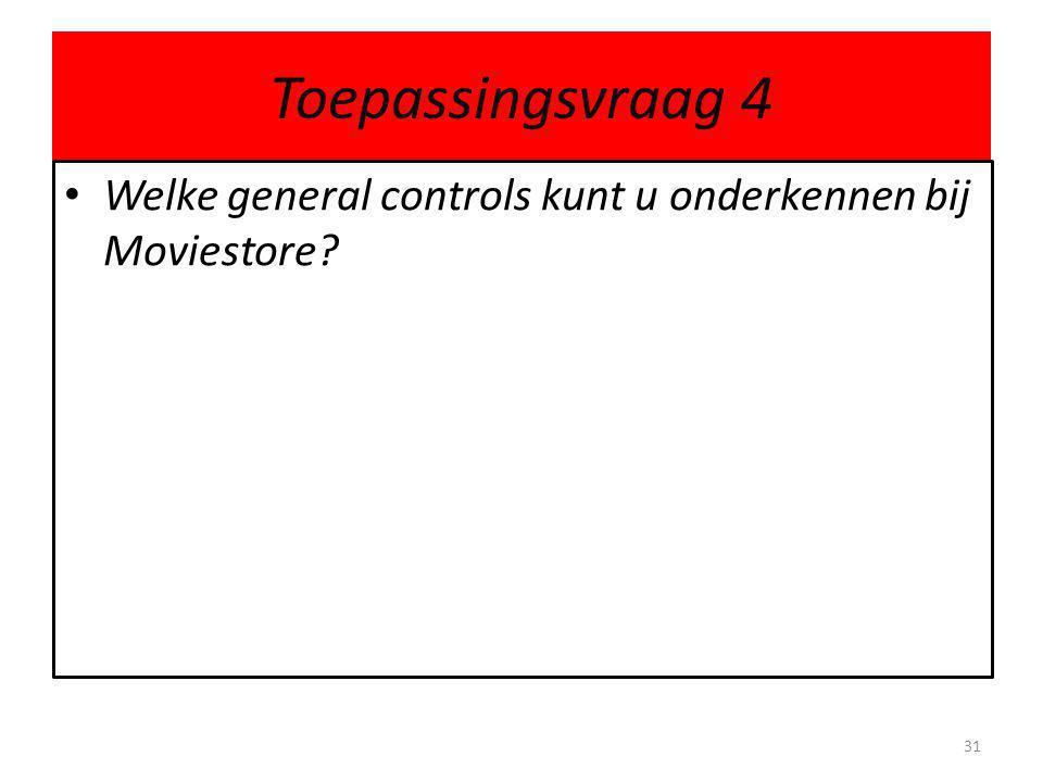 Toepassingsvraag 4 Welke general controls kunt u onderkennen bij Moviestore
