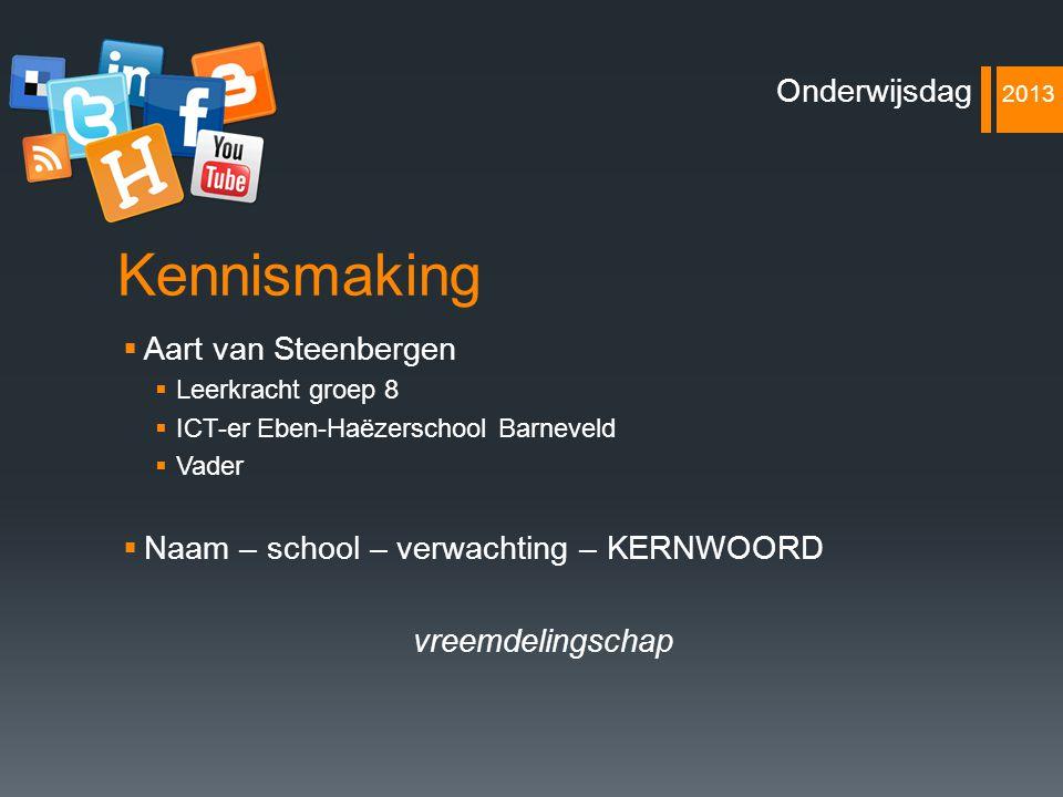 Kennismaking Onderwijsdag 2013 Aart van Steenbergen