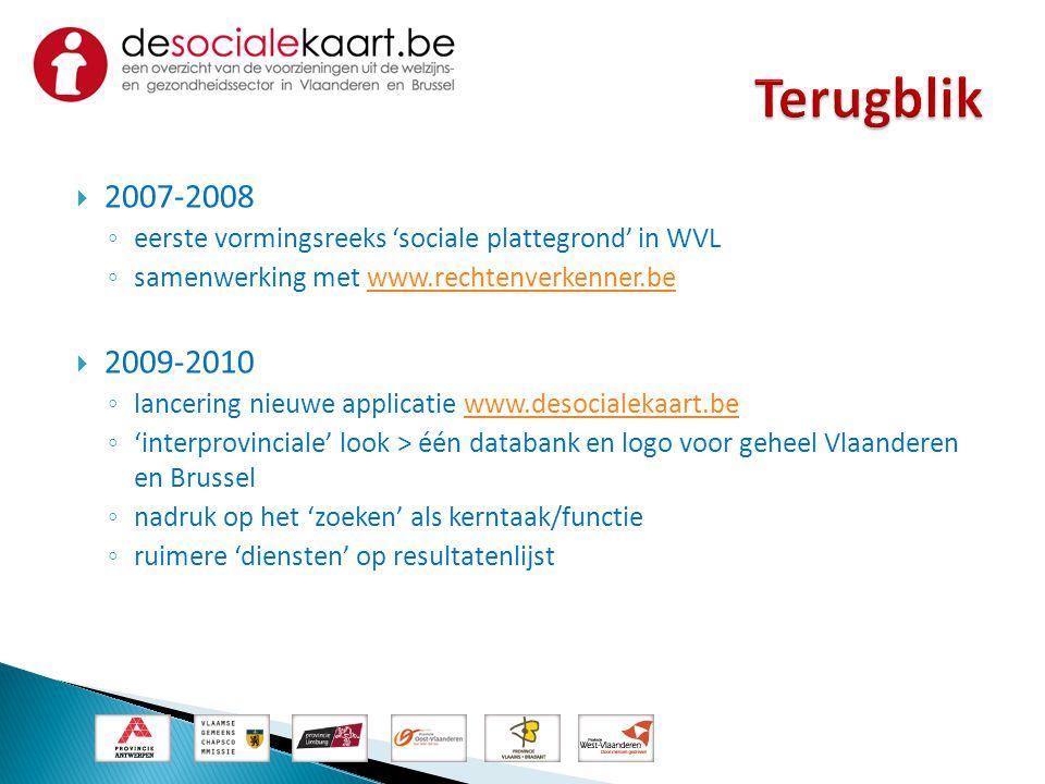 Terugblik 2007-2008. eerste vormingsreeks 'sociale plattegrond' in WVL. samenwerking met www.rechtenverkenner.be.