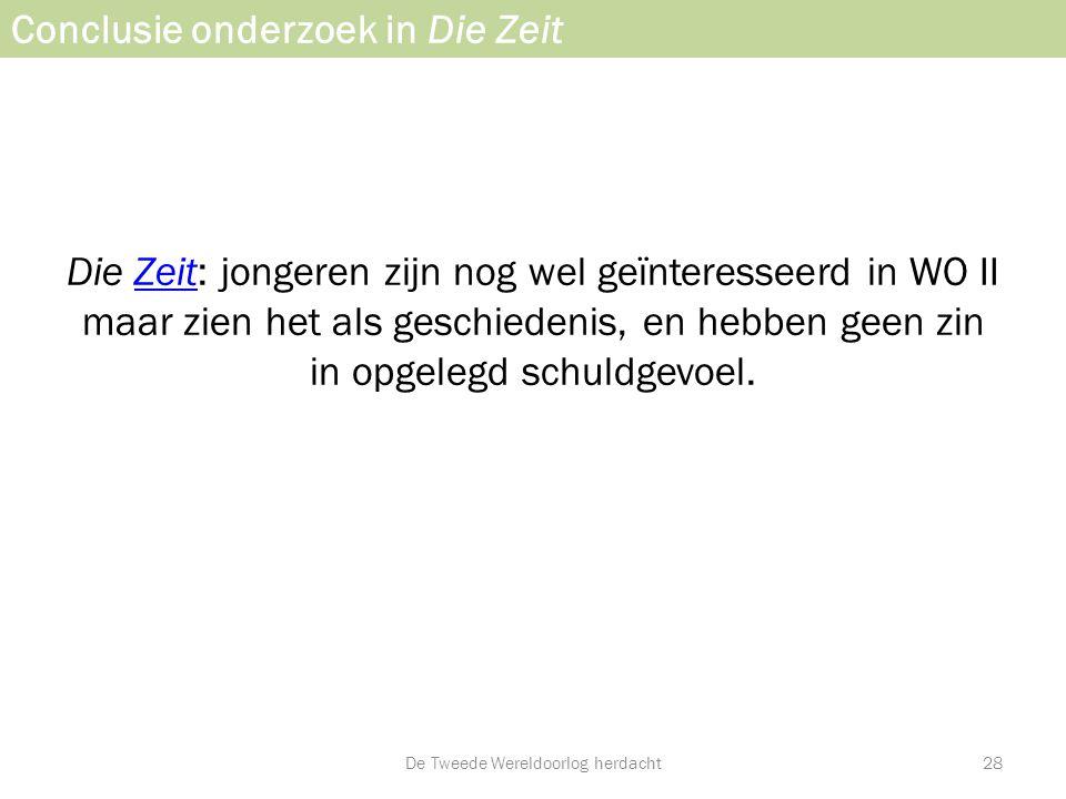 Conclusie onderzoek in Die Zeit