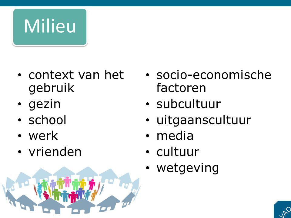 Milieu context van het gebruik socio-economische factoren gezin