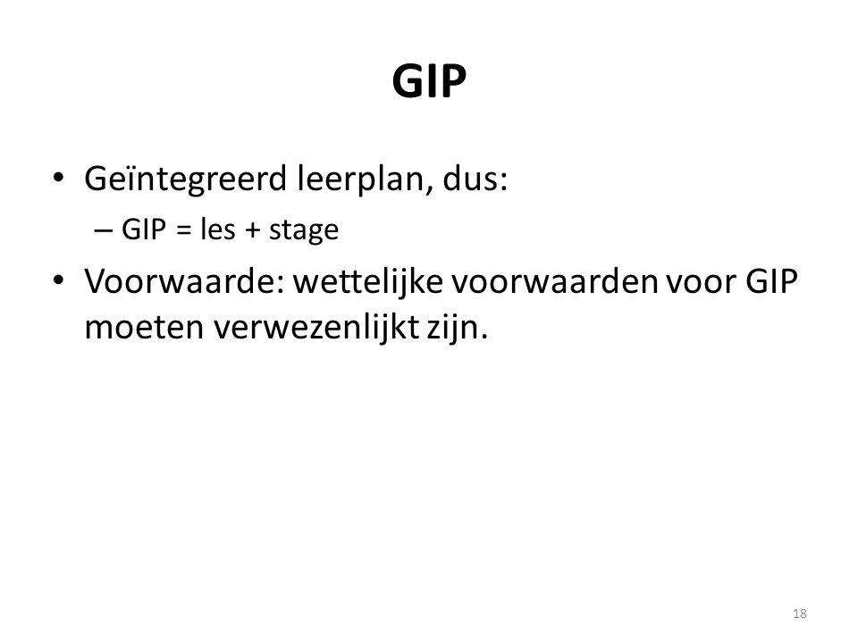 GIP Geïntegreerd leerplan, dus: