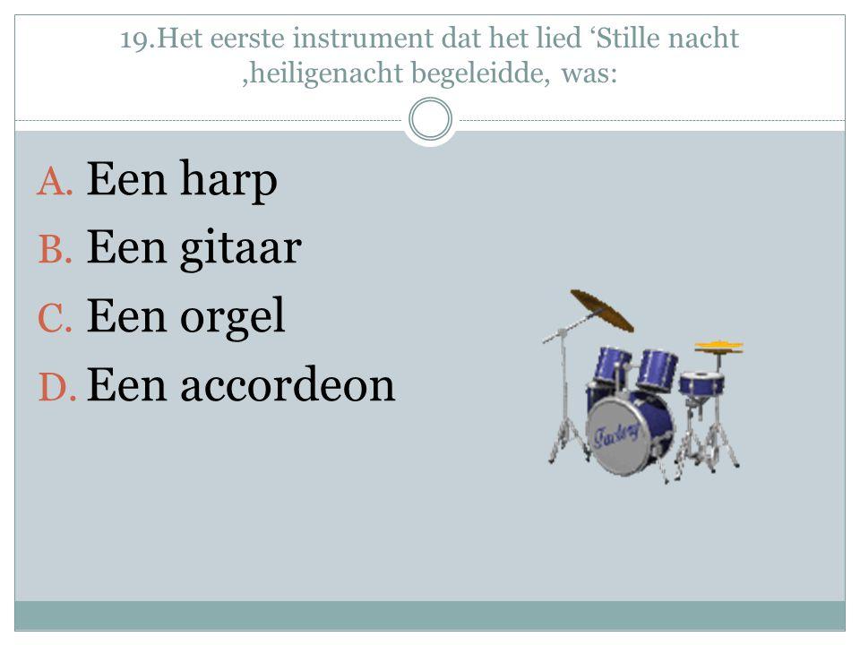 Een harp Een gitaar Een orgel Een accordeon