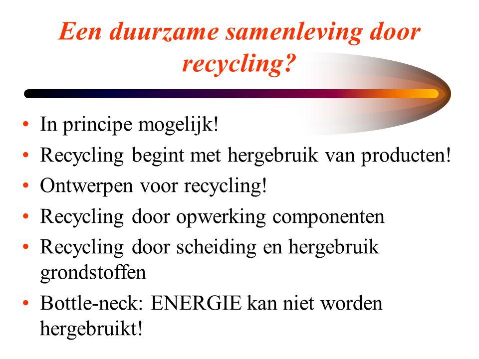 Een duurzame samenleving door recycling