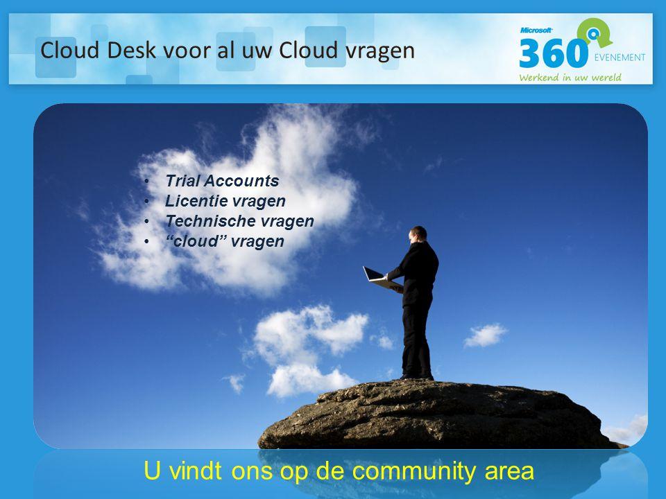 Cloud Desk voor al uw Cloud vragen