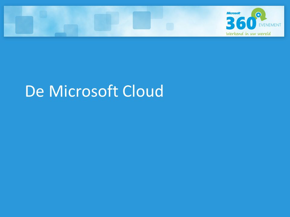 De Microsoft Cloud