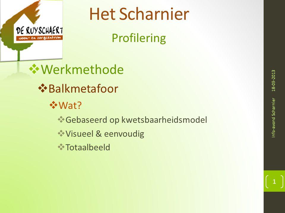 Het Scharnier Werkmethode Profilering Balkmetafoor Wat