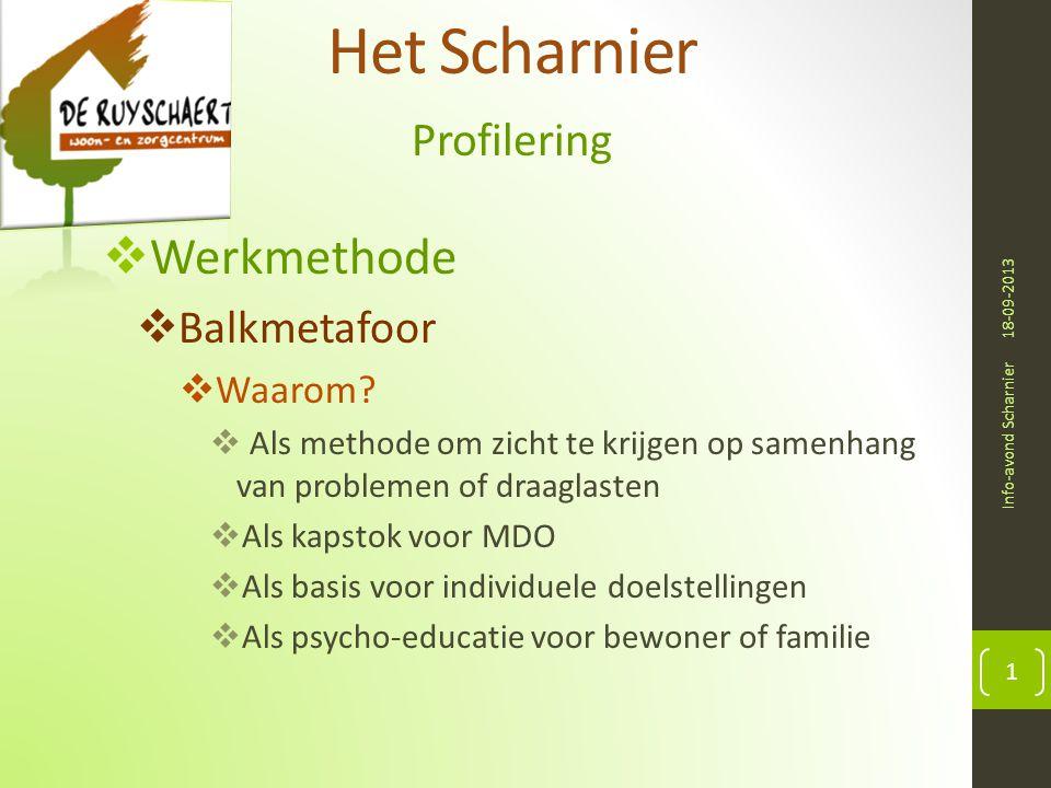 Het Scharnier Werkmethode Profilering Balkmetafoor Waarom