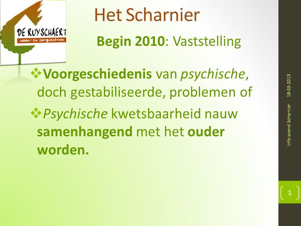 Het Scharnier Begin 2010: Vaststelling