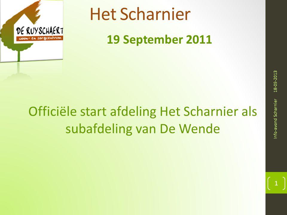 Officiële start afdeling Het Scharnier als subafdeling van De Wende