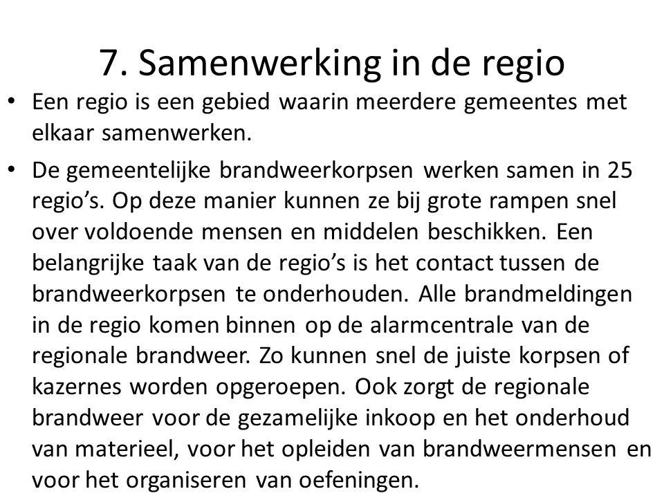 7. Samenwerking in de regio