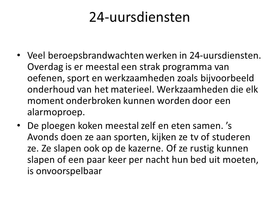 24-uursdiensten