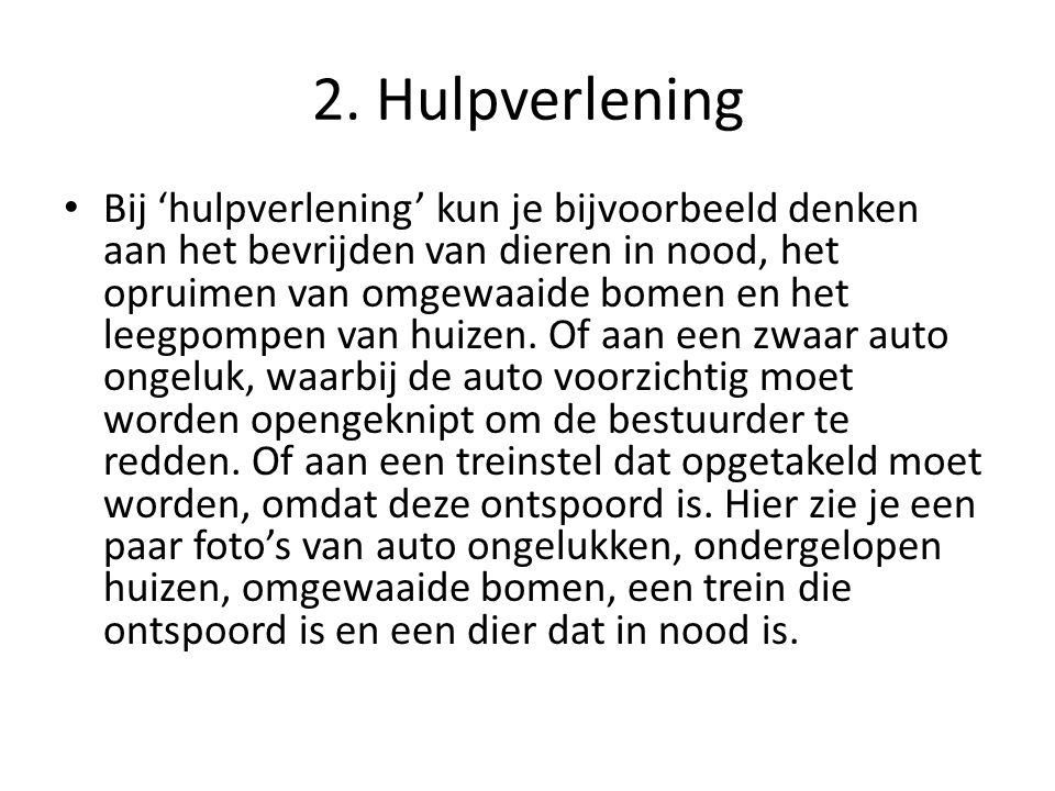 2. Hulpverlening