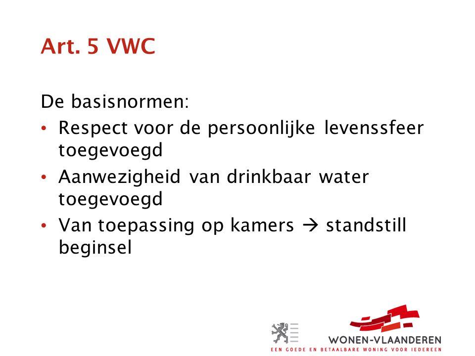 Art. 5 VWC De basisnormen: