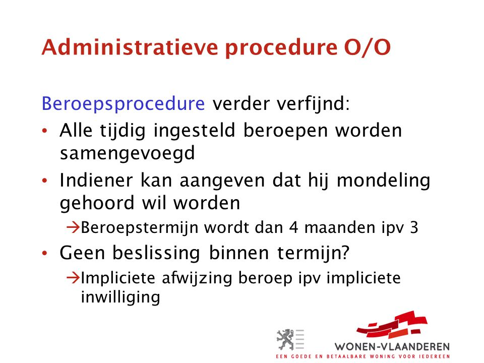 Administratieve procedure O/O