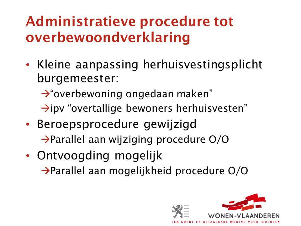 Administratieve procedure tot overbewoondverklaring