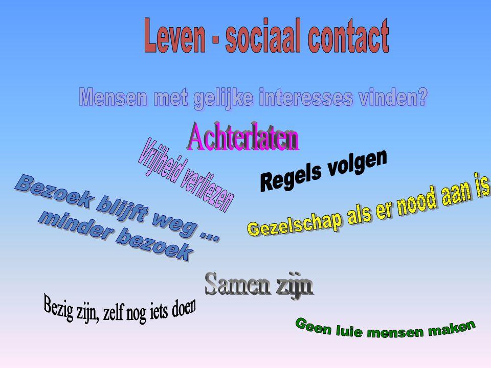 Leven - sociaal contact