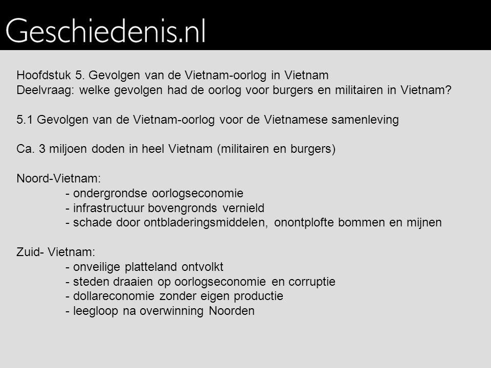 Hoofdstuk 5. Gevolgen van de Vietnam-oorlog in Vietnam