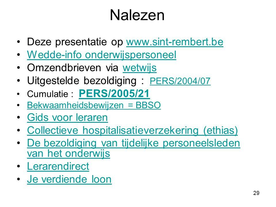 Nalezen Deze presentatie op www.sint-rembert.be