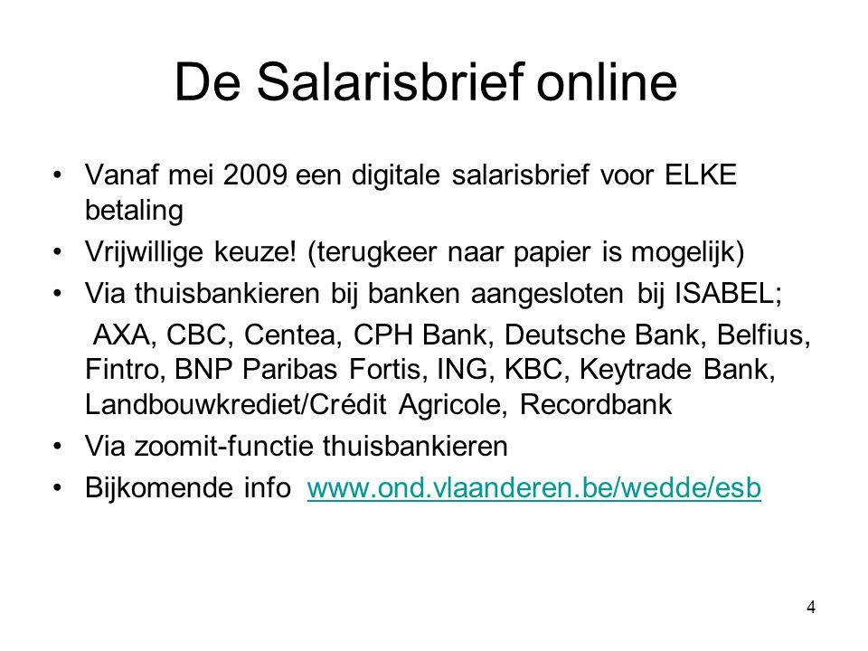 De Salarisbrief online