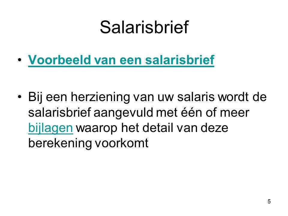 Salarisbrief Voorbeeld van een salarisbrief