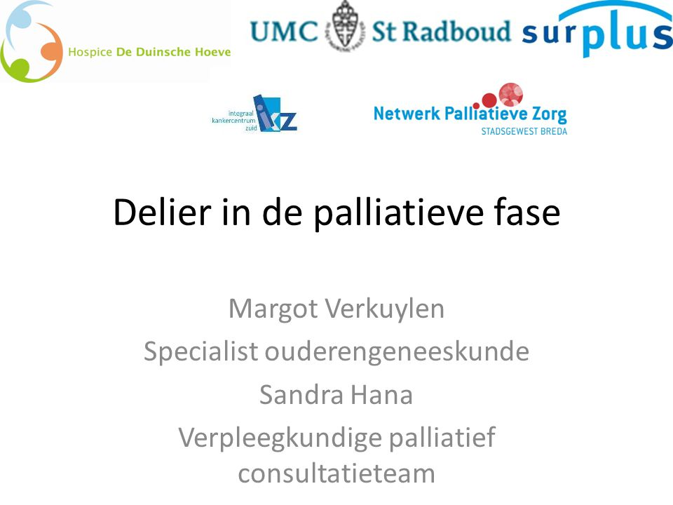 Delier in de palliatieve fase