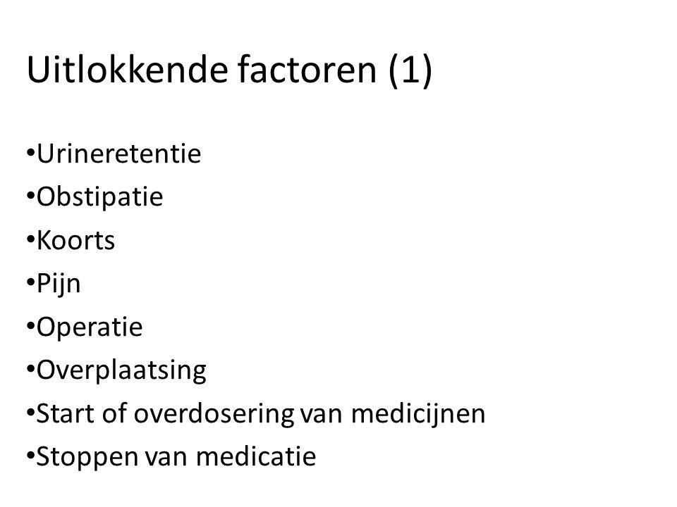 Uitlokkende factoren (1)