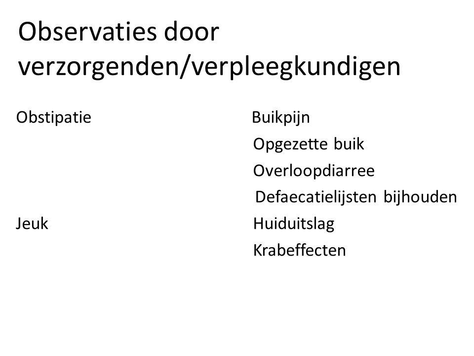 Observaties door verzorgenden/verpleegkundigen