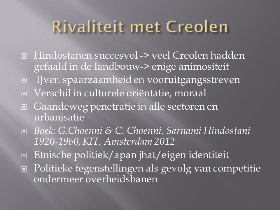 Rivaliteit met Creolen