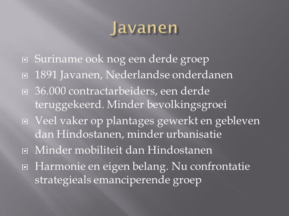 Javanen Suriname ook nog een derde groep