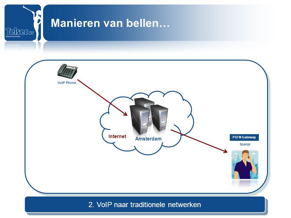 2. VoIP naar traditionele netwerken