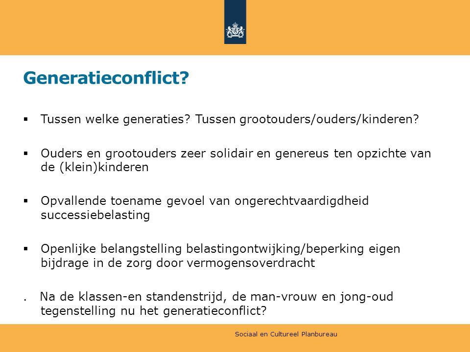 Generatieconflict Tussen welke generaties Tussen grootouders/ouders/kinderen
