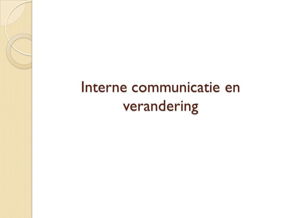Interne communicatie en verandering