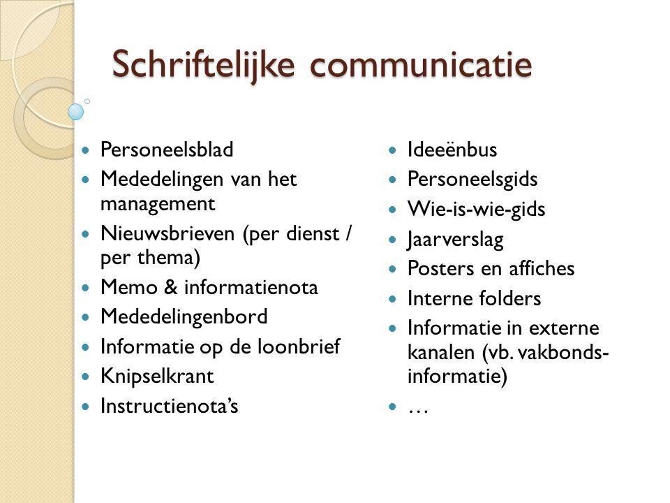 Schriftelijke communicatie