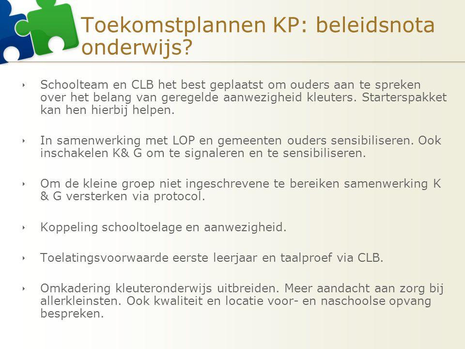 Toekomstplannen KP: beleidsnota onderwijs