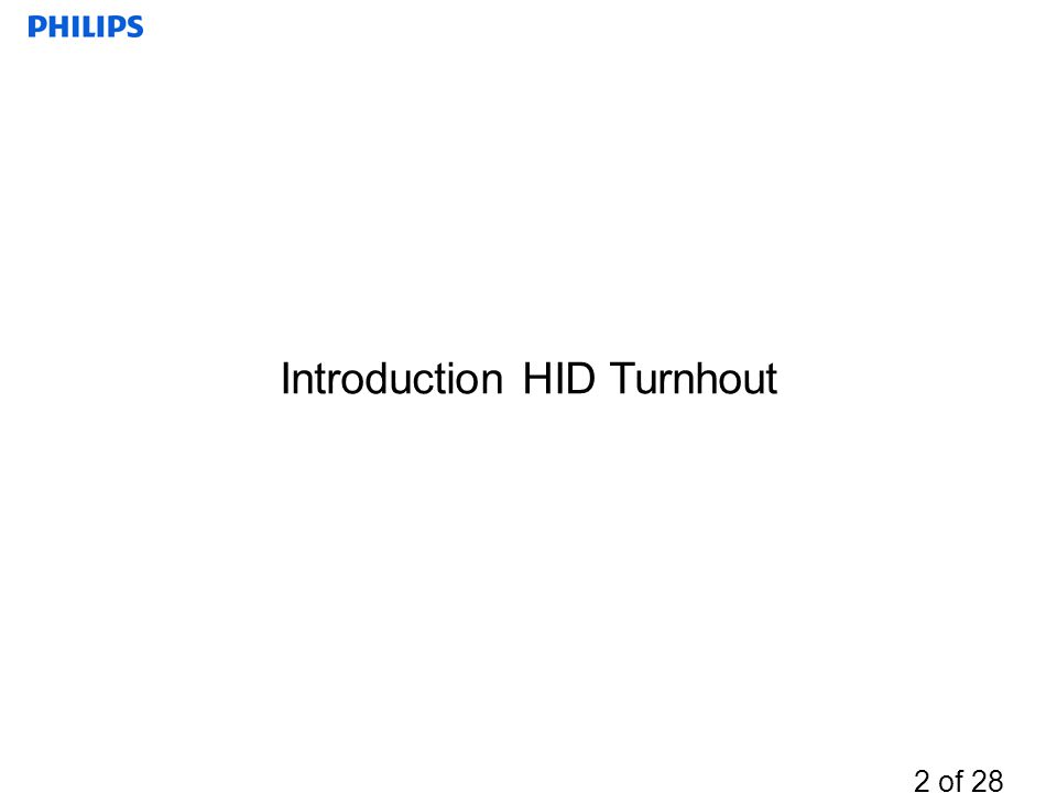 Introduction HID Turnhout