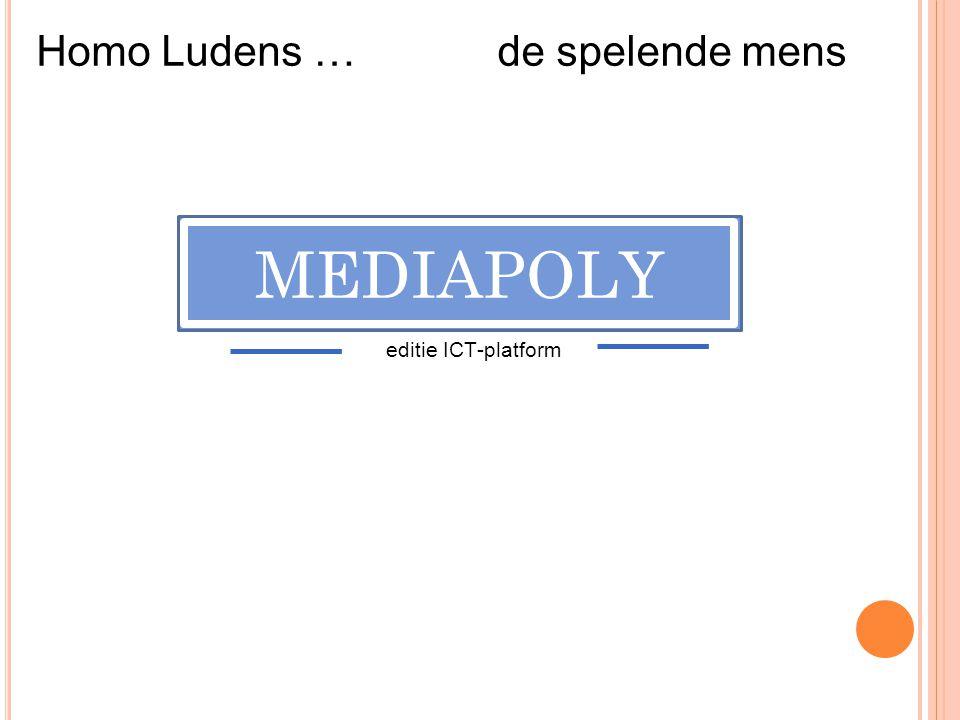 Homo Ludens … de spelende mens MEDIAPOLY editie ICT-platform