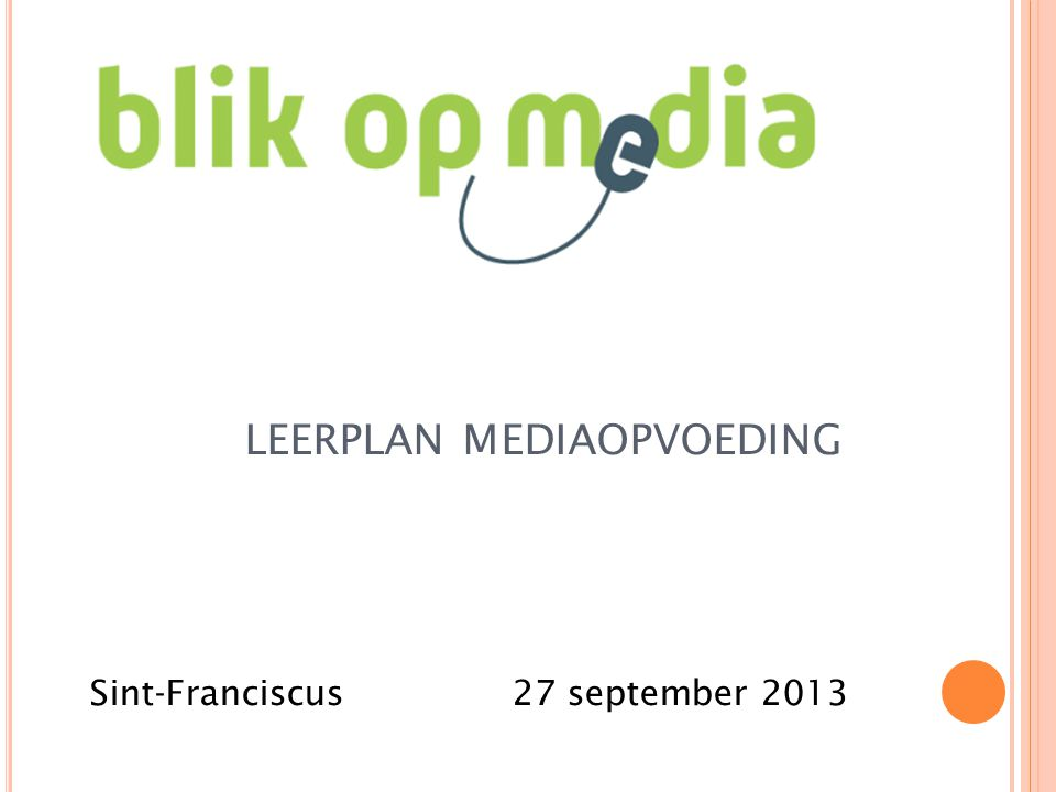 leerplan mediaopvoeding