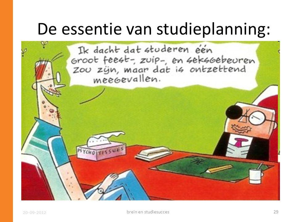 De essentie van studieplanning: