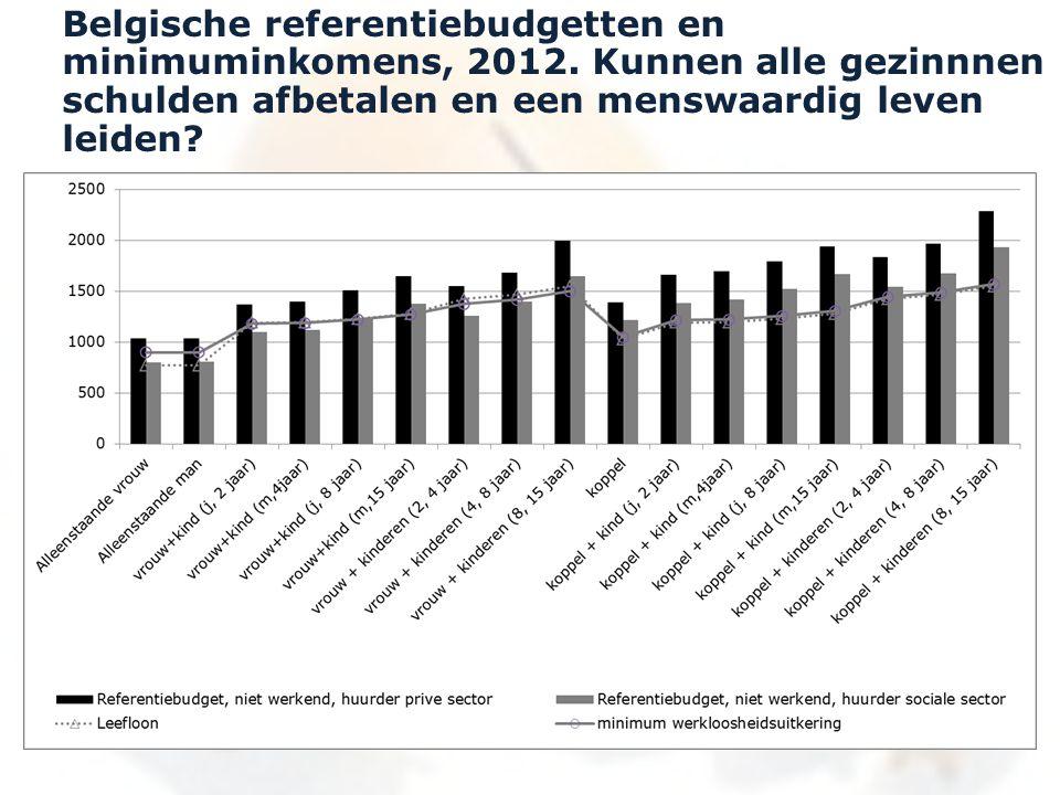 Belgische referentiebudgetten en minimuminkomens, 2012