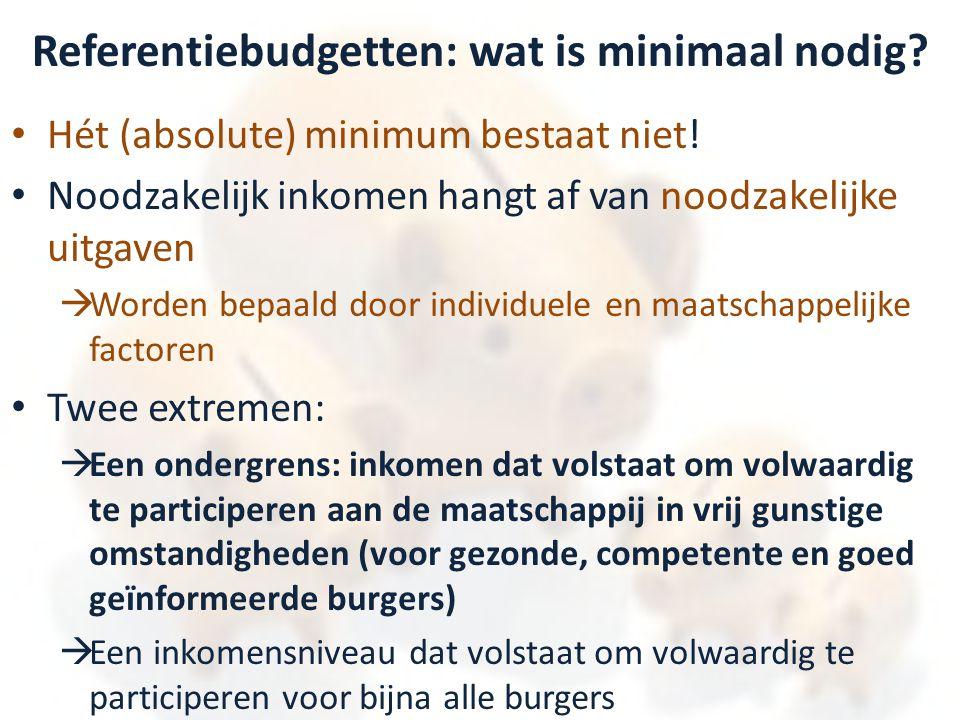 Referentiebudgetten: wat is minimaal nodig