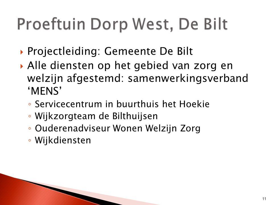Proeftuin Dorp West, De Bilt