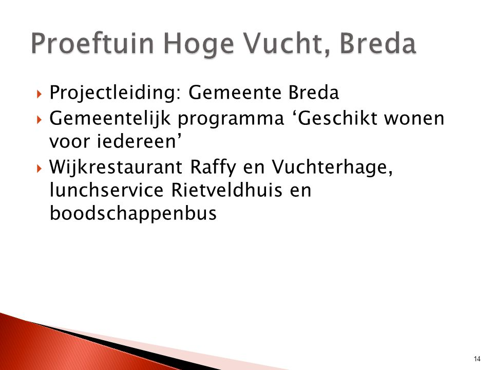 Proeftuin Hoge Vucht, Breda