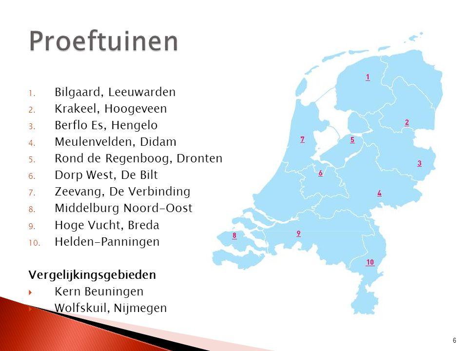 Proeftuinen Bilgaard, Leeuwarden Krakeel, Hoogeveen Berflo Es, Hengelo
